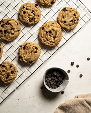 Vegan plant based chocolate chip cookies