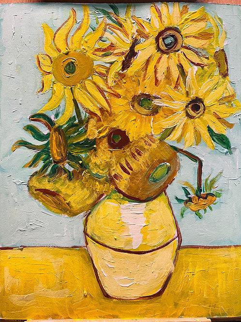 Van Gogh Sunflowers Lesson with Art Box