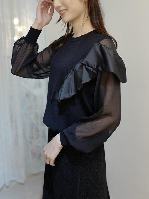 T1911 [2色] Diva Ruffle layer Top
