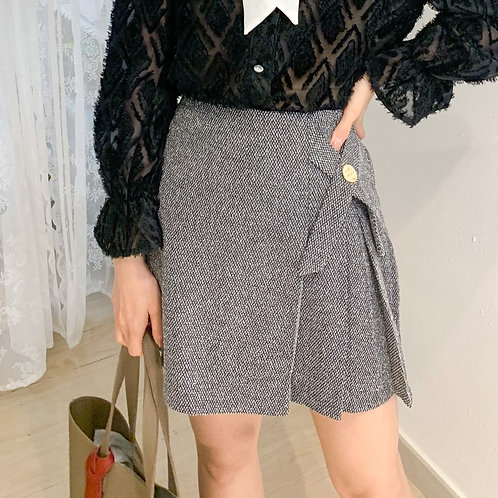 [2色] D1809 Megara Ribbon cross Skirt