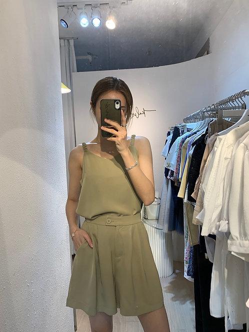 [2色] SET 吊帶+褲套裝 免燙 S1134