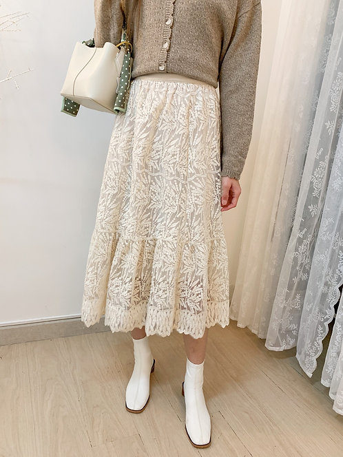 [2色] D1651 Diana Lace long Skirt