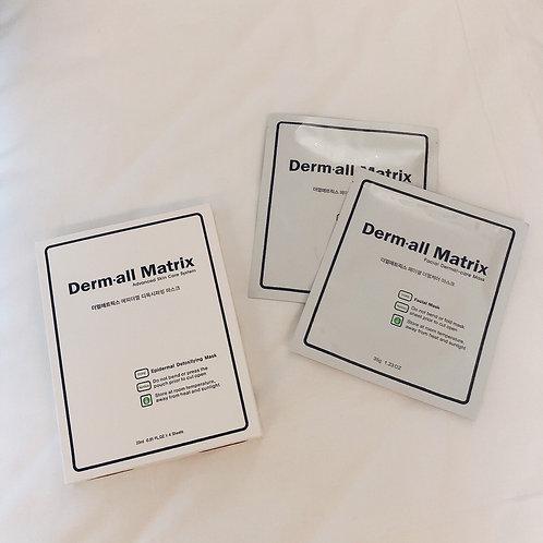 [1盒4片到付] 🔥韓國人皮面膜- Derm·all Matrix 全效修復面膜