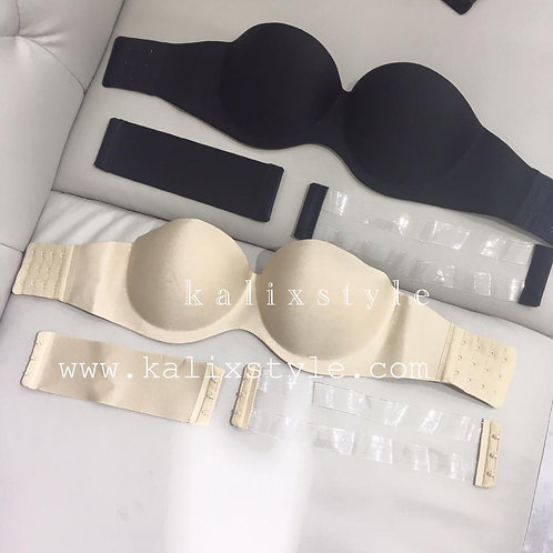 $99 strapless bra(黑/裸)