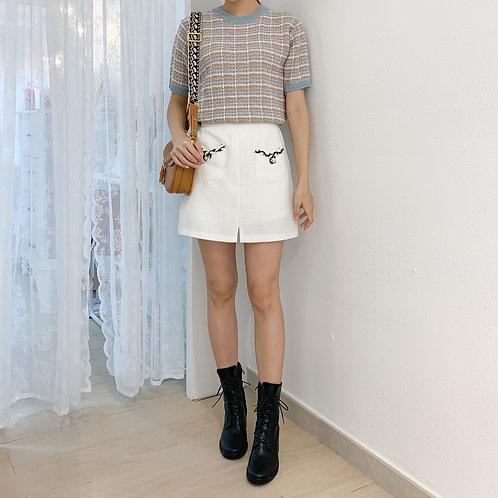 [2色] D1406 Shirley前口袋薄身裙褲