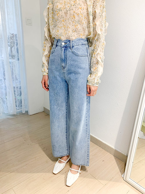 P1825 Nelly Wave line Wide Jeans