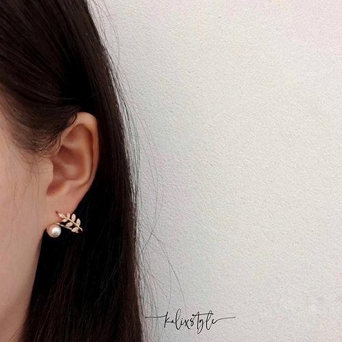 葉子珍珠耳環  [包本地平郵]