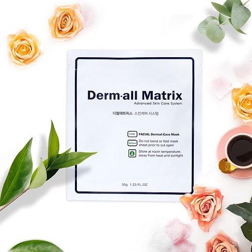 [3盒12片包順豐]🔥韓國人皮面膜- Derm·all Matrix 全效修復面膜