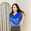 Thumbnail: [2色] T1628 Shinny Velvet Short Sleeves Top