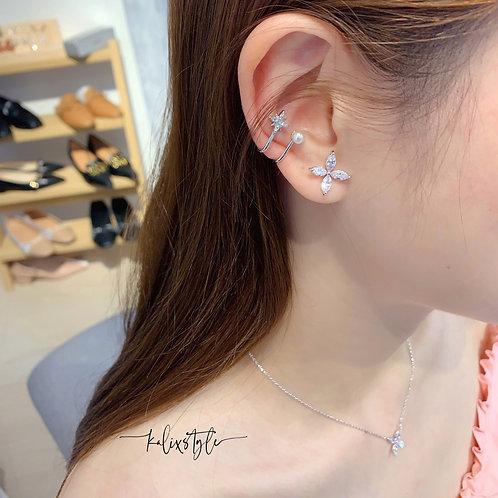 星星珍珠 耳骨夾