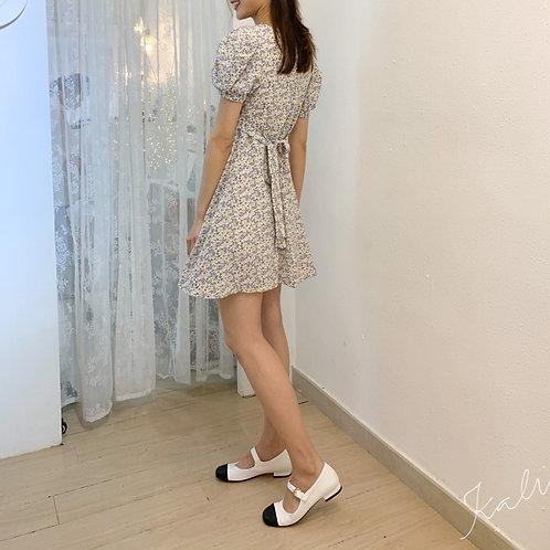 S1915 [2色] 小香風十字紋平底鞋