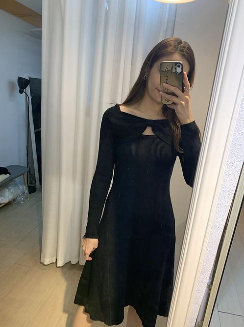 [2色]the Ribbon Knit dress