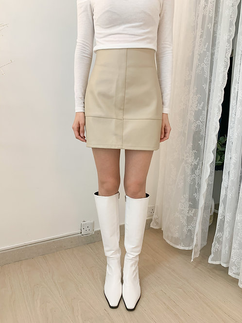 D1512{2色}Rio Eco-leather Skirt