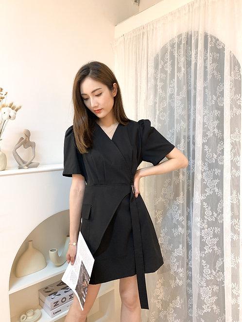D1941 [2色] 側索帶扣Layering連身裙