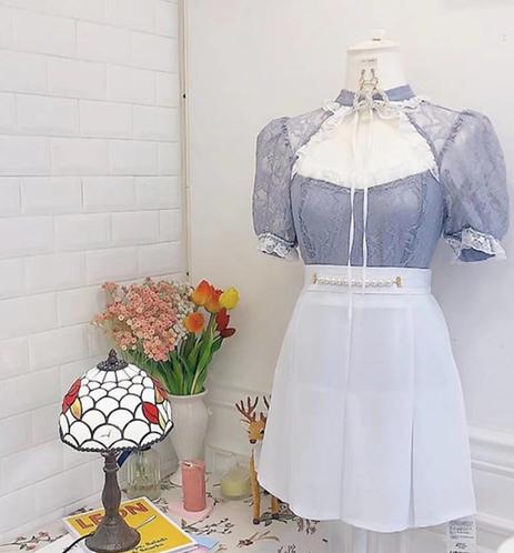 [4色] Calliandra 珍珠帶高腰裙褲 D1315