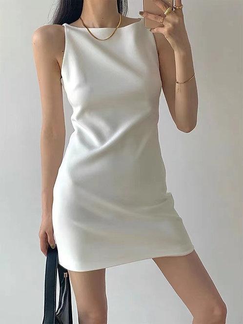 D2001 [8色] 小平領彈性連身裙