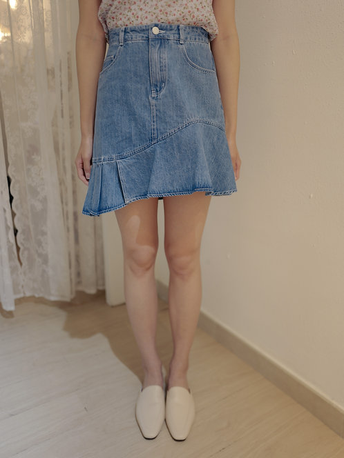 D1907 Tutti Denim Flared Skirt