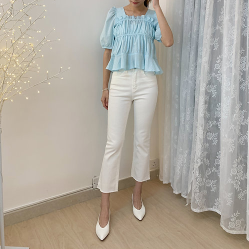 Lilah White Flare Jeans P1222