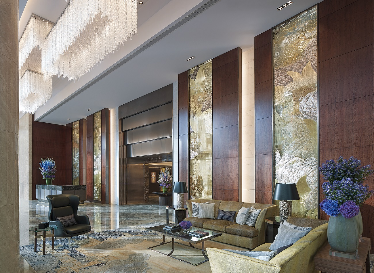 Welcome Lobby - Shangri-La Hotel, At The Shard, London