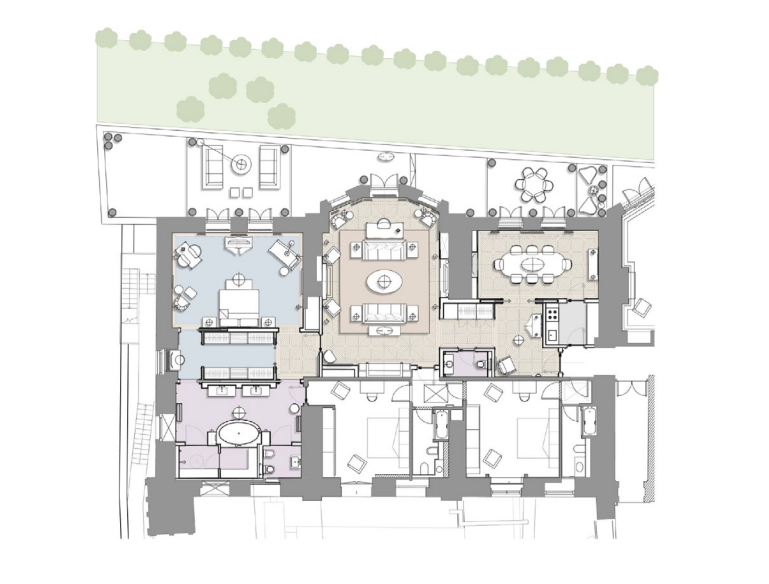 Mandarin Oriental Royal Suite Floorplan