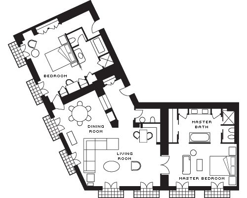 Bulgari Suite Floorplans