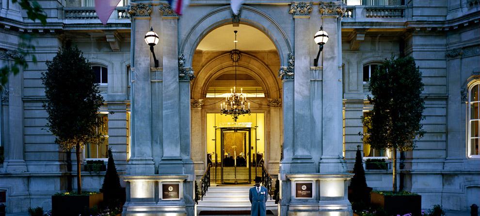The Langham Grand Hotel Entrance