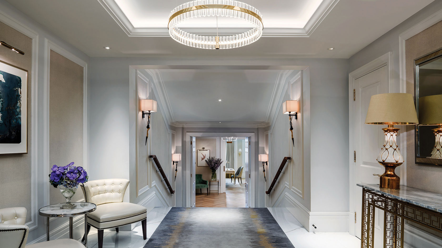 The Langham's Sterling Suite Hallway