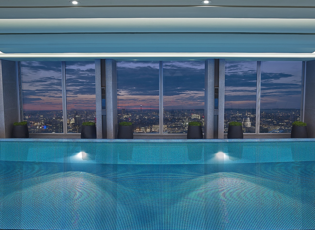 Skypool by night - Shangri-La Hotel, At The Shard, London
