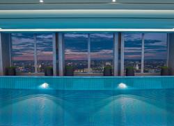 Skypool by night - Shangri-La Hotel, At The Shard, London