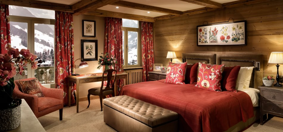 Gstaad Palace Suite Bedroom