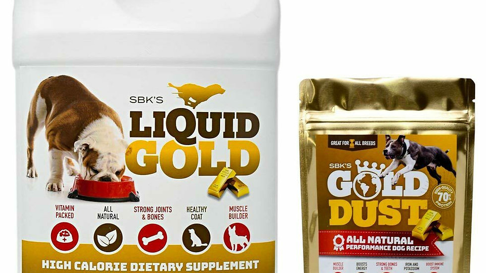 SBK's Liquid Gold & Gold Dust Combo Pack 30 Day