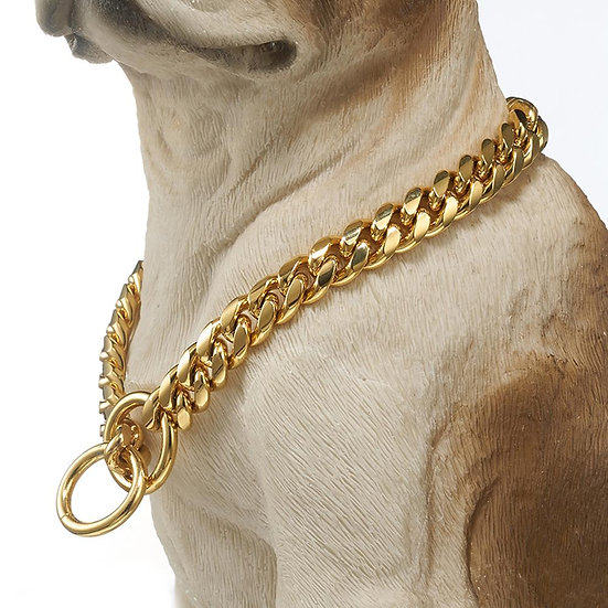 Dog Chain Stainless Steel Gold Meter Curb Cuban