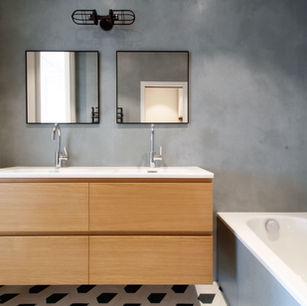 Salle d'eau, Béton Ciré