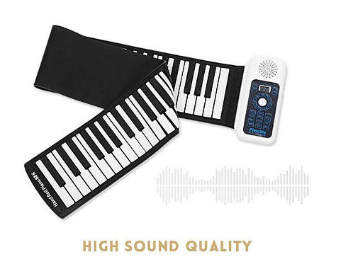 Portable 88 Keys Flexible Roll Up Piano Electronic Soft Keyboard Piano Silicone