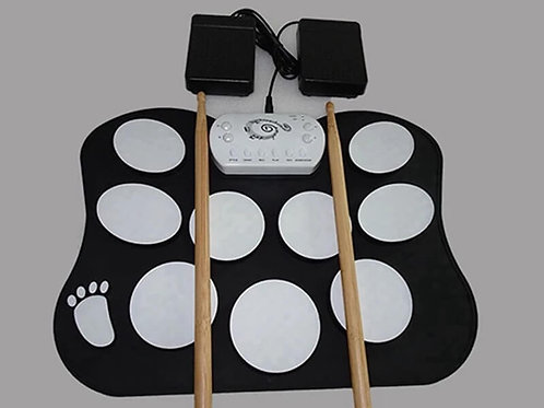 Professional high quality small roll up drum kit education silicone drums