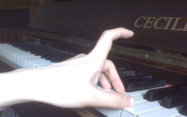 piano beginners hand