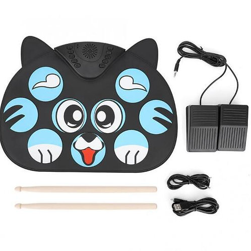 Best children's gift Portable Electronic Roll up Drum Pad Kit