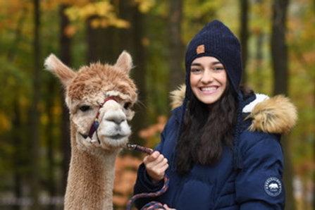 Navy 100% alpaca fibre hand knitted hat