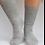 Thumbnail: Grey 100% alpaca fibre hand knitted socks
