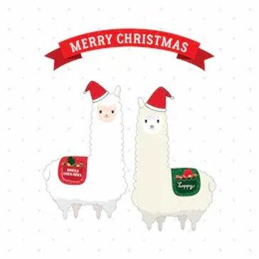 Christmas alpaca gift set