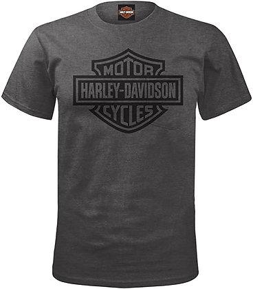 Harley-Davidson Military - Men's Charcoal Bar & Shield Pocket Tee