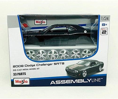 Maisto 1:24 Scale Assembly Line 2008 Dodge Challenger SRT8 Diecast Model Kit
