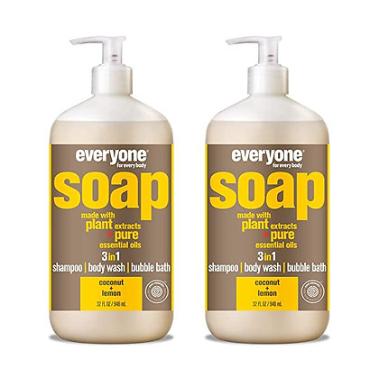 Everyone 3-in-1 Soap: Shampoo, Body Wash, & Bubble Bath