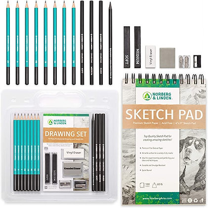Drawing Set - Sketching and Charcoal Pencils