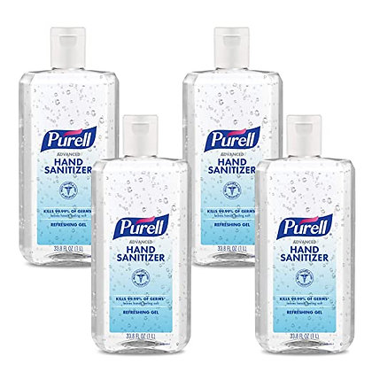 PURELL Advanced Hand Sanitizer Refreshing Gel, Clean Scent, 1 Liter Flip