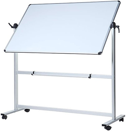 VIZ-PRO Double-Sided Magnetic Mobile Whiteboard, 48 x 36 Inches