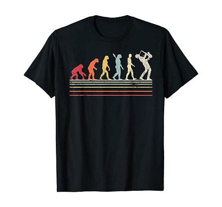 Funny Saxophone TShirt. Retro Vintage Evolution Of Man Shirt