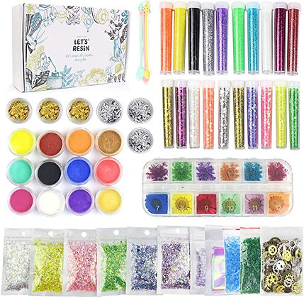 Craft kit including glitter