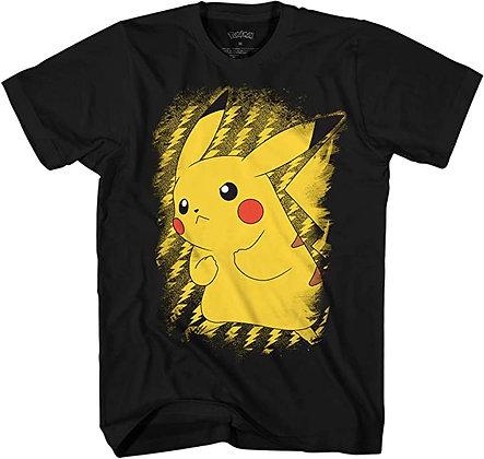 Pokemon Men's Pokémon Pikachu Electric Static Power T-Shirt