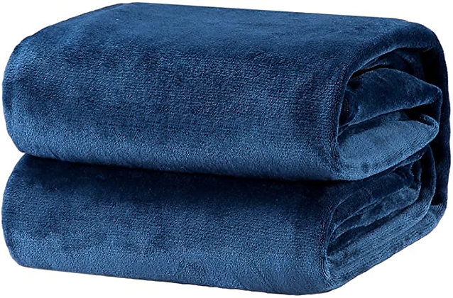 Bedsure Fleece Blanket Throw Size Navy Lightweight Super Soft Cozy Luxury Bed Bl